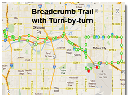 EasiTrack Crumb on map