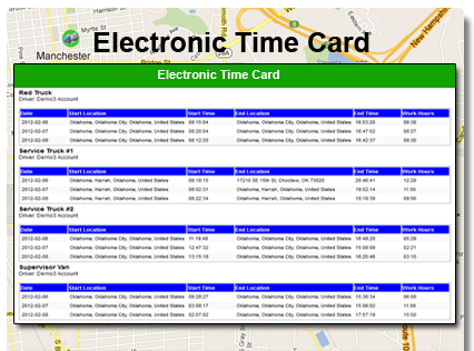Electronic time card